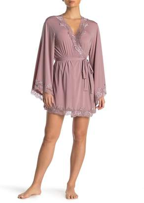 Oh La La Cheri Lace Trim Bell Sleeve Robe
