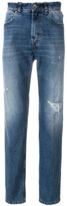 Eleventy straight leg distressed jeans
