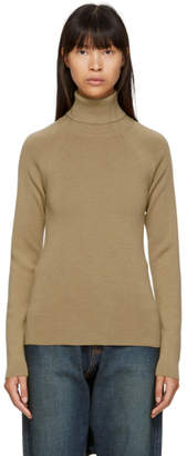 Junya Watanabe Beige Full Needle Turtleneck