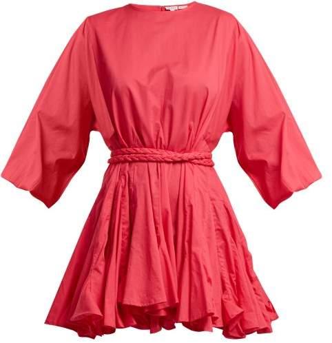 RHODE RESORT Ella tie-waist cotton dress