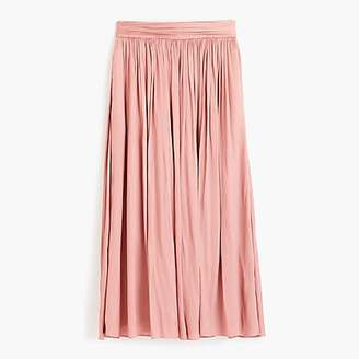 J.Crew Petite Point Sur crinkled maxi skirt