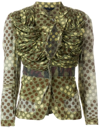 Comme des Garcons Pre-Owned camouflage polka dot jacket
