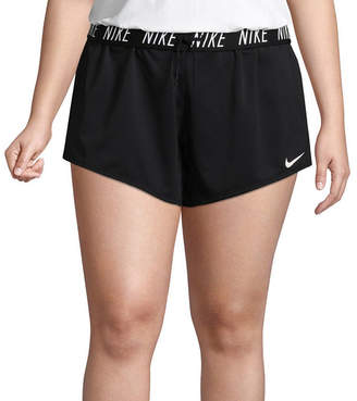 Nike Womens Mid Rise 5 Workout Shorts-Plus