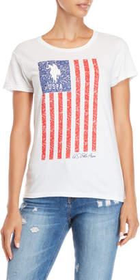 U.S. Polo Assn. Flag Print Tee