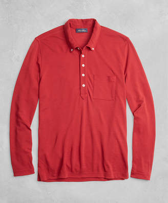 Brooks Brothers BrooksTech Long-Sleeve Polo Shirt