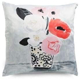 Kate Spade Brushstroke Garden Peony Pillow