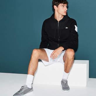 Lacoste Men's SPORT Tennis Colorblock Bi-material Zip Sweatshirt