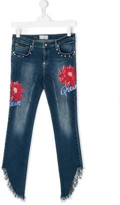 Philipp Plein Junior TEEN Fringe jeans