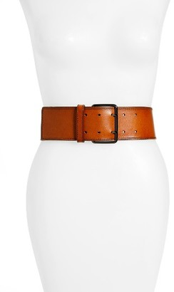 Women's Hinge Wide Leather Belt $59 thestylecure.com