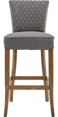 HomeFare Quilted Barstool Gray