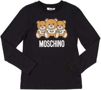 Moschino Teddy Bears Print Cotton Jersey T-Shirt