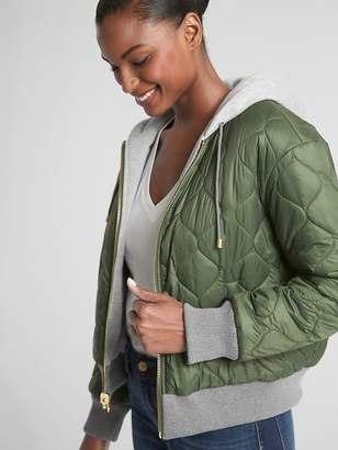 Gap Reversible Fleece-Lined Logo Puffer Jacket