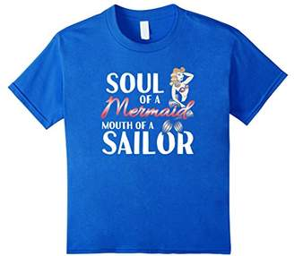 Soul Of A Mermaid Mouth Of A Sailor Funny Sailing Shirt