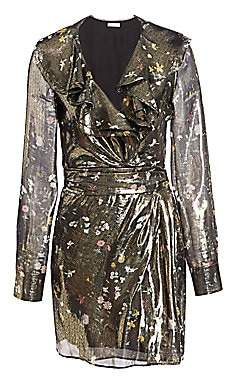 Altuzarra Women's Lennox Metallic Floral Silk-Blend Mini Dress