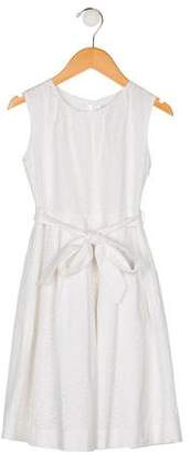 Rachel Riley Girls' Eyelet A-Line Dress