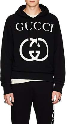 ae9be061fa4ab7 Gucci Men s Interlocking-G-Print Cotton Hoodie - Black