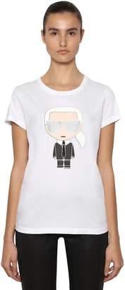 Karl Lagerfeld Ikonik Sunglasses Jersey T-Shirt