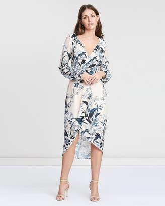 Cooper St Vanilla Long Sleeve Drape Dress