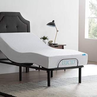 LUCID L100 Adjustable Bed Base - High Quality Steel Frame - 5 Minute Assembly - Head and Foot Incline - Wired Remote Control - Twin XL