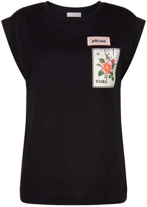 Sandro Patch Embroidered T-Shirt