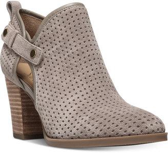 Franco Sarto Dakota Perforated Ankle Booties $129 thestylecure.com