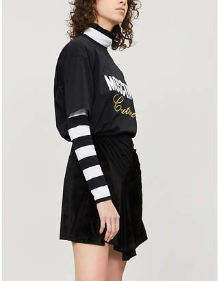 32452ecf4 Moschino Slogan-embroidered cotton-jersey T-shirt