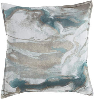 """Isabella Collection by Kathy Fielder Caspin Marbled Pillow, 22""""Sq."""