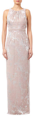 Adrianna Papell Halter Long Dress, Rose Gold