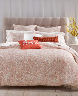 Charter Club Paisley Cotton 300-Thread Count 2-Pc. Twin Duvet Cover Set, Created for Macy's