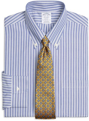 Brooks Brothers Regent Fitted Dress Shirt, Non-Iron Bold Split Stripe