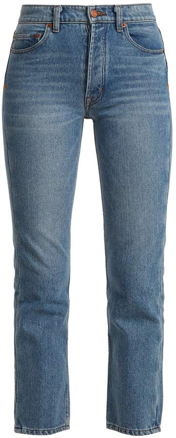 BLISS AND MISCHIEF Collector-fit high-rise jeans