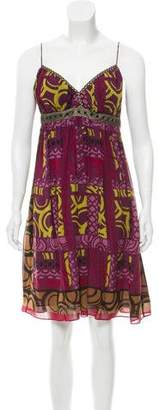 Nicole Miller Printed Silk Dress w/ Tags