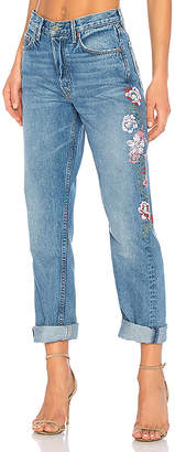 GRLFRND x REVOLVE Helena High-Rise Straight Crop Jean.