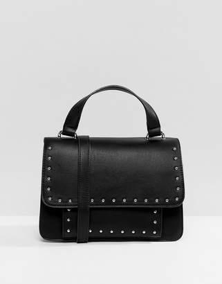 Pull&Bear studded top handle crossbody bag