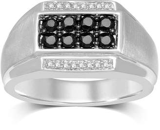 Black Diamond FINE JEWELRY Mens 3/4 CT. T.W. Color-Enhanced Sterling Silver Ring