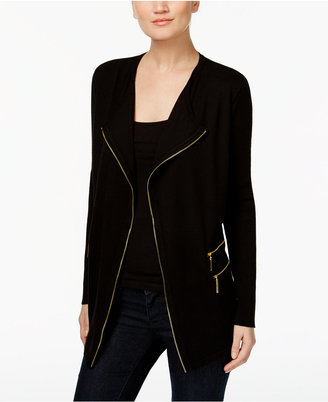 INC International Concepts Zip-Up Cardigan, Only at Macy's $99.50 thestylecure.com