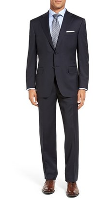 Men's Canali Classic Fit Solid Wool Suit $1,695 thestylecure.com