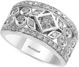 Effy Pave Classica by Diamond Band (3/4 ct. t.w.) in 14k White Gold