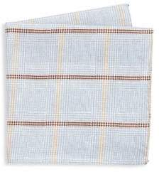 Saks Fifth Avenue COLLECTION Houndstooth Plaid Pocket Square