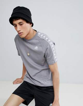 Kappa T-Shirt With Sleeve Taping In Gray