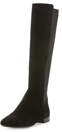 Tory BurchTory Burch Orsay Suede Knee Boot, Black