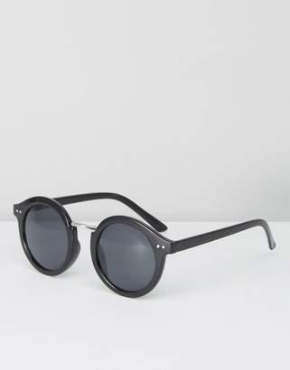 Pieces Black Round Sunglasses