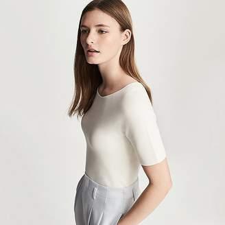 Uniqlo Women's 3d Cotton Crewneck Short-sleeve Sweater