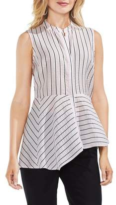 Vince Camuto Modern Sleeveless Canopy Stripe Blouse
