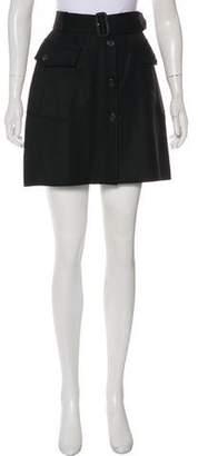 Burberry Belted Mini Skirt