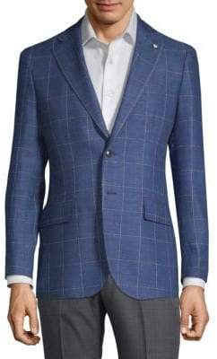 Lubiam Windowpane Wool Sportcoat