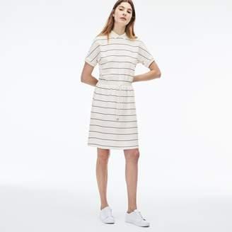 Lacoste Women's Elasticized Waistband Knit Polo Dress