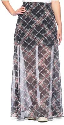Juicy Couture Kronberg Plaid Maxi Skirt