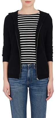 Barneys New York Women's Cashmere Zip-Front Hoodie - Black