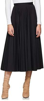 Maison Margiela Women's Pleated Tech-Fabric Midi-Skirt